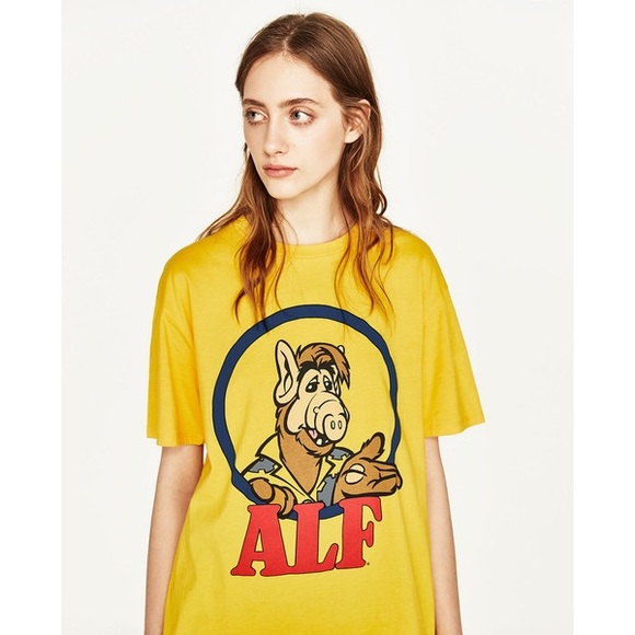 3446d24760f30 NWT Zara Yellow ALF T Shirt